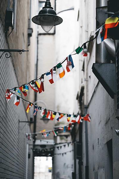rue drapeaux pays europe