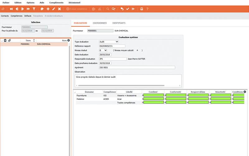 Logiciel ERP Divalto infinity - Fonctionnalité Gestion de la qualité SMQ et finance
