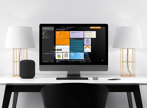 ERP Divalto infinity bureau design imac