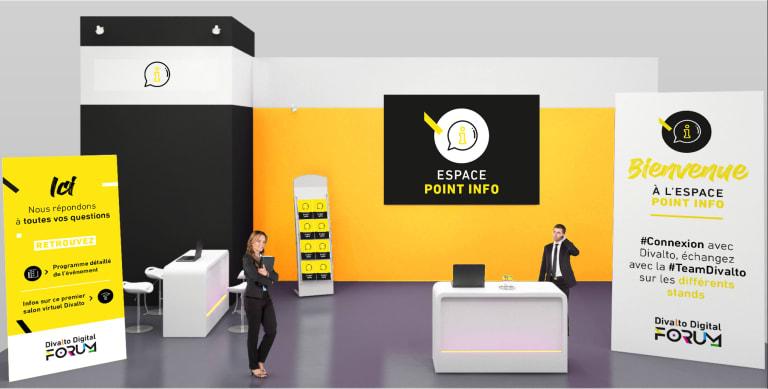 représentation d'un point info du divalto digital forum