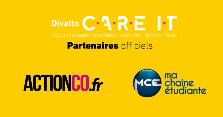 actionco.fr et ma chaîne étudiante, partenaires officiels du divalto C.A.R.E I.T