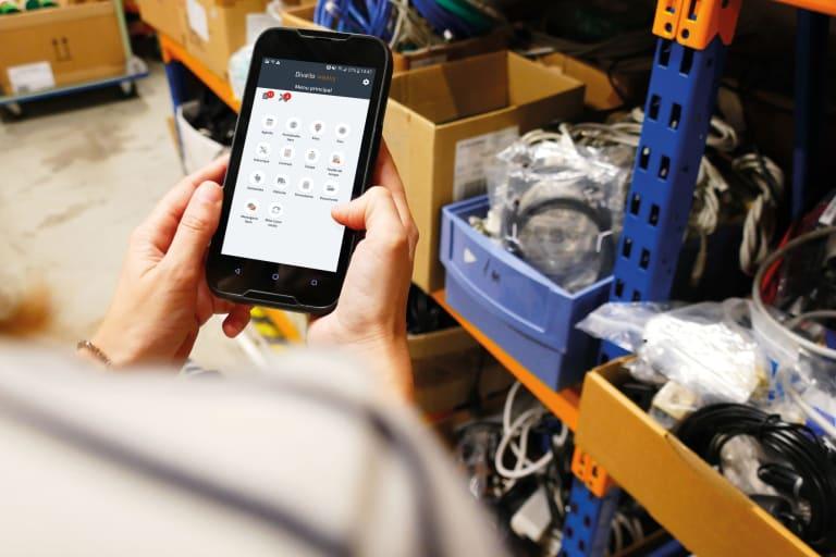 divalto weavy app crm mobile gestion interventions stock