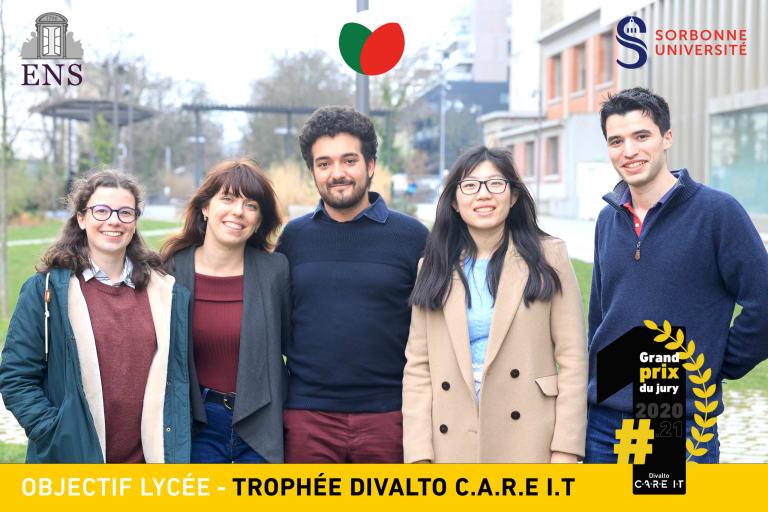 Photo des gagnants du Divalto C.A.R.E I.T