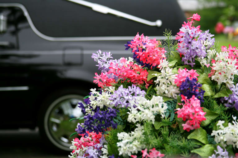photo de fleurs d'enterrement