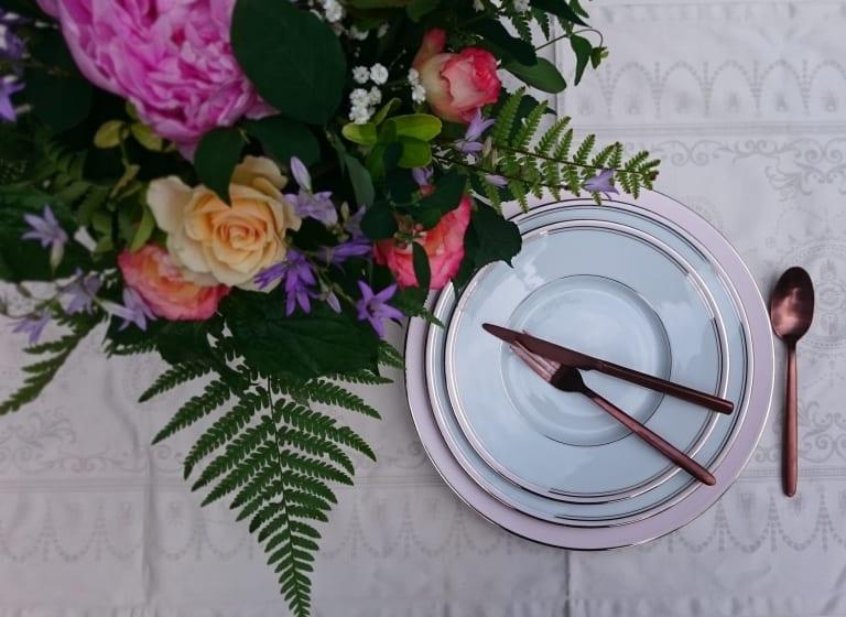deshoulieres vaisselle assiette fleurs