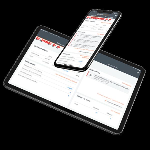 Application CRM sur tablette et mobile