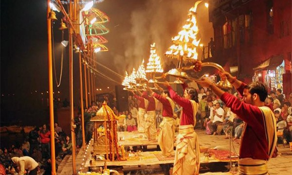 From Varansi: Day Tour to Sarnath with Boating and Ganga Aarti