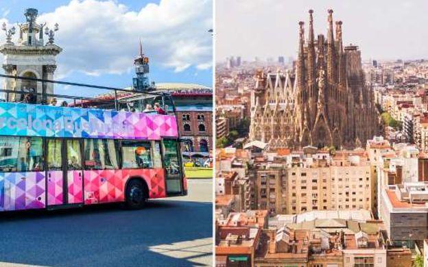 Barcelona Bus Turistic Hop-On, Hop-Off Tour with Skip-the-Line Sagrada Familia Ticket