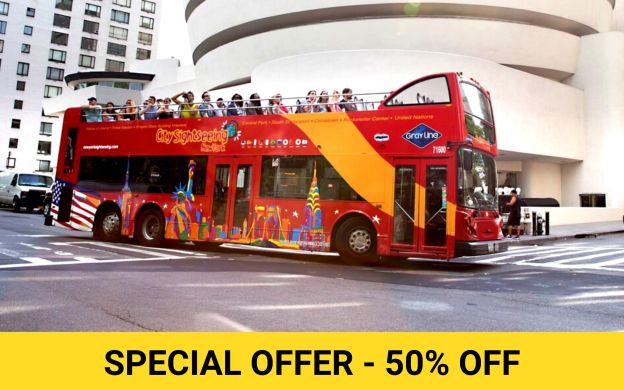 City Sightseeing New York City: Hop-On, Hop-Off Tour, Free Ferry and Museum Ticket