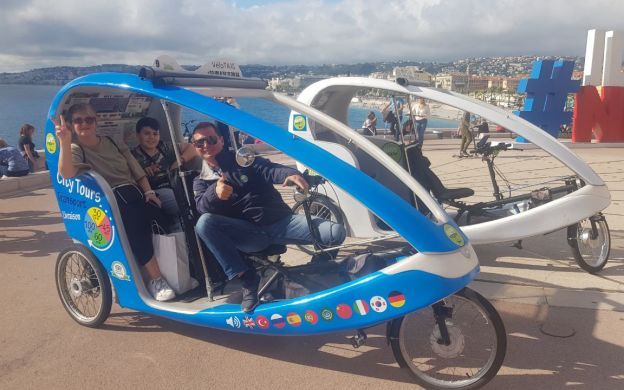 Nice Guided Sightseeing Tour In Electric Velotaxi
