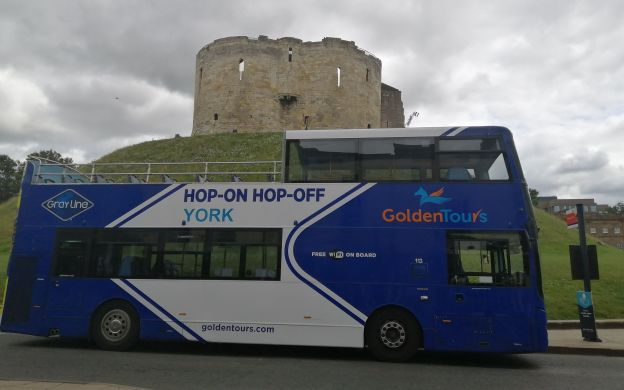 Golden Tours York: Hop-On, Hop-Off Tour *1 Extra Day FREE*