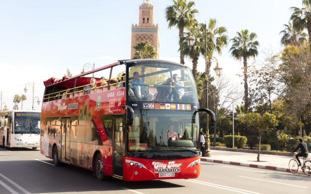 City Tours Marrakech: Hop-on, Hop-off Bus Ticket with Quad Bike Ride Through Palm Groves