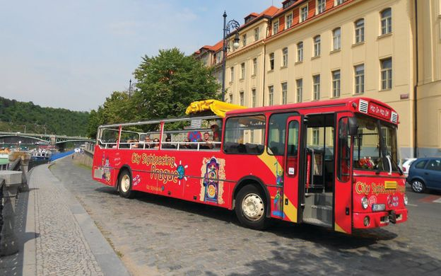 City Sightseeing Prague: Hop-On, Hop-Off Bus + Castle Walking Tour