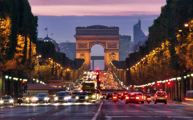 Seine River Cruise, City Illuminations Tour With Dinner on the Champs-Elysees