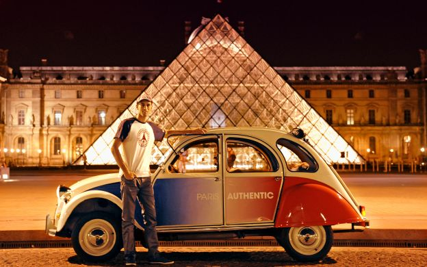 Private Night Tour of Paris in an Open Top 2CV