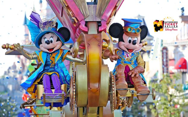 Disneyland® Paris 2 Days 2 Parks Hopper Ticket with Free Discount Vouchers