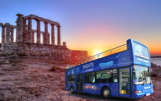 Sight of Athens: Hop-on, Hop-off Bus - Classic Ticket and Cape Sounion Sunset Tour Combo