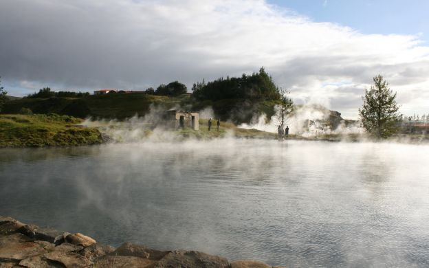Secret Lagoon entrance with Golden Circle Guided Tour – From Reykjavik