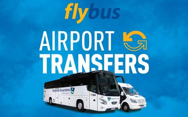 Keflavik Airport to Hotel Flybus Return Shuttle Transfers, Reykjavik