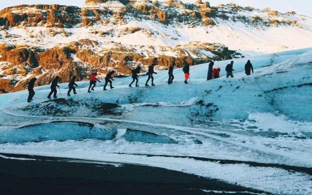 Iceland 2-Day Guided Tour: Jokulsarlon with Glacier Hike, Boat Tour & South Coast Waterfalls