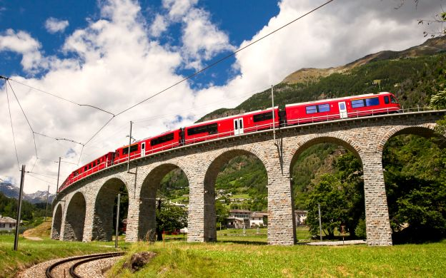 Bernina Express Scenic Train Ride with Hotel Pickup