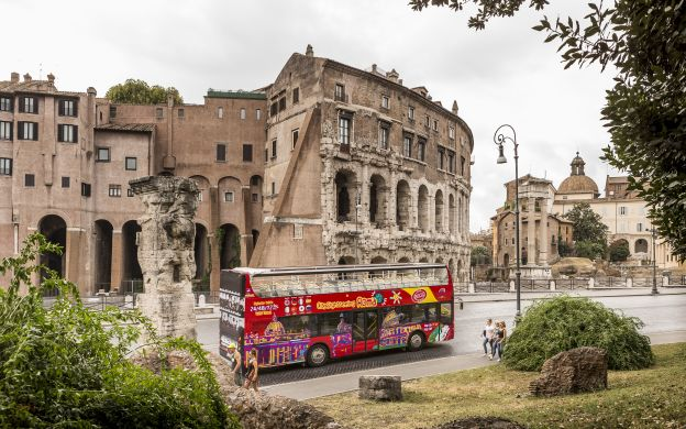 City Sightseeing Rome: Hop-On, Hop-Off Bus + Colosseum Ticket