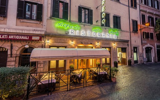 Restaurant Alfredo alla Scrofa Happy Hour and Dinner, Rome