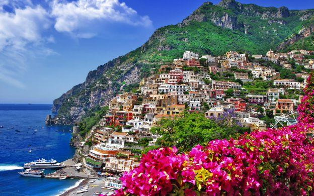 Semi Private Pompeii, Positano & Amalfi Coast Tour with Lunch