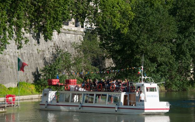 GreenLine Rome: Hop-On, Hop-Off Bus and Boat Tour