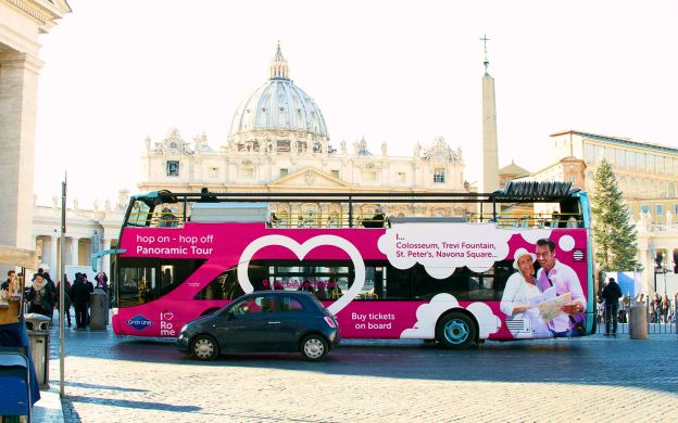 I Love Rome: Hop-On, Hop-Off Bus + Vatican Museum Ticket or Colosseum Guided Tour