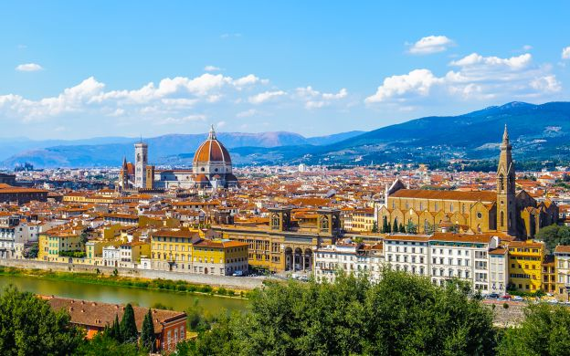 Venice to Florence Round Trip Train Ticket + City Sightseeing Florence: Hop-on, Hop-off Bus Tour