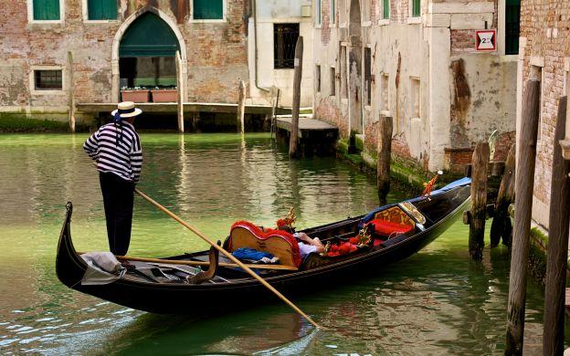 Romantic Gondola Ride, Venice