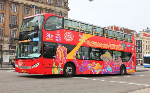 City Sightseeing Amsterdam: Hop-On, Hop-Off Tour with Bus and Boat Options