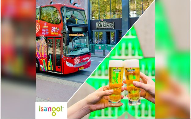 City Sightseeing Amsterdam: Hop-On Hop-Off Bus Tour+ Heineken Experience Ticket