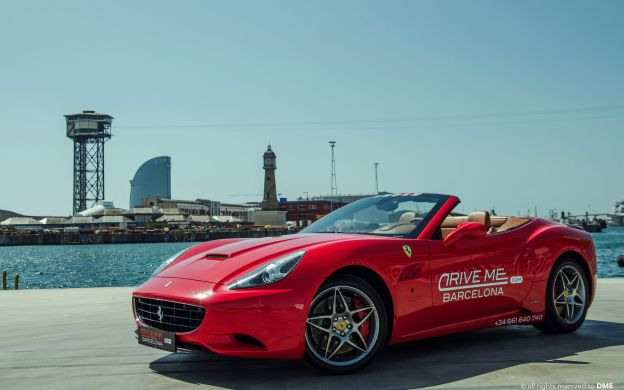 Drive a Ferrari: Barceloneta Beach and Olympic Village