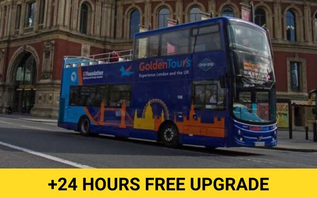 Golden Tours London: Hop-On, Hop-Off Bus + Madame Tussauds or The Shard Ticket Combo - Get Extra 24 hrs Free