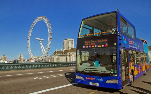 Golden Tours London: Hop-On, Hop-Off Bus with Madame Tussauds or View from The Shard