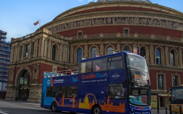 Golden Tours London: Hop On Hop Off Bus with London Eye Ticket Combo