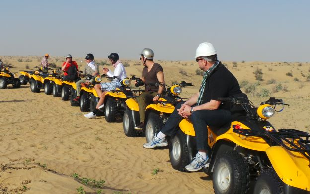 Dubai Quad Bike Desert Safari with optional Barbeque Dinner
