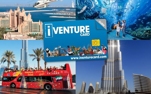 i-Venture Dubai Flexi Attractions Pass: Burj Khalifa, Desert Safari, Wild Wadi Waterpark, Hop-on, Hop-off Bus and More!
