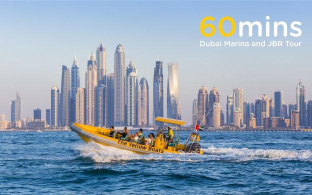 Dubai Marina & Jumeirah Beach Sightseeing Cruise - The Yellow Boats | 25% OFF