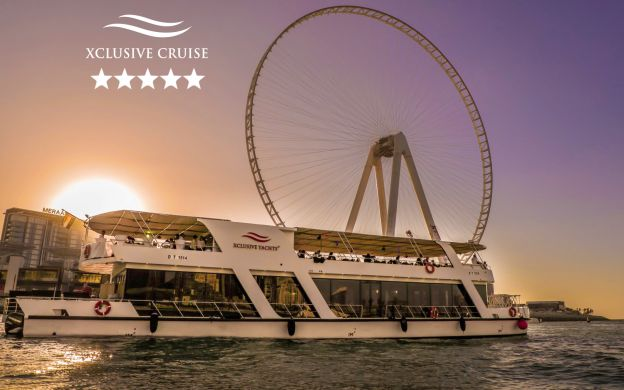 Dubai Marina Luxury Sunset Cruise with Early Dinner & Live Music