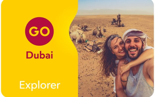 Go Dubai Card - Explorer: Hop-On, Hop-Off, Burj Khalifa, AquaVenture, Ferari World Abu Dhabi & More