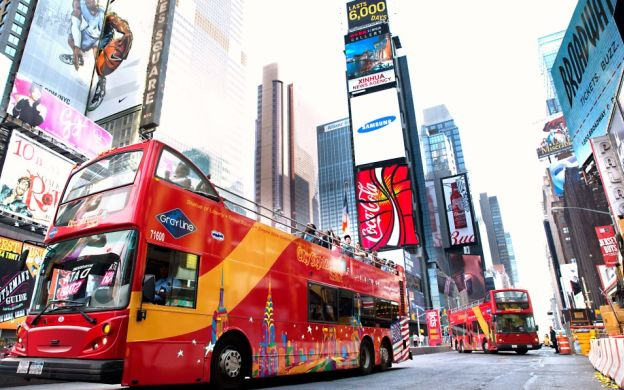 City Sightseeing New York City: Hop-On, Hop-Off Tour with FREE Ferry and Attraction Ticket