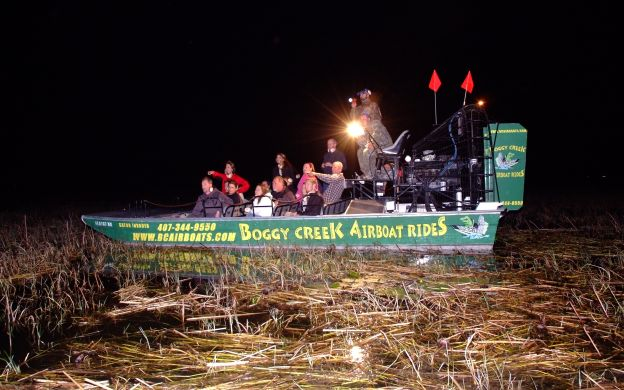 Night Airboat Ride in Boggy Creek
