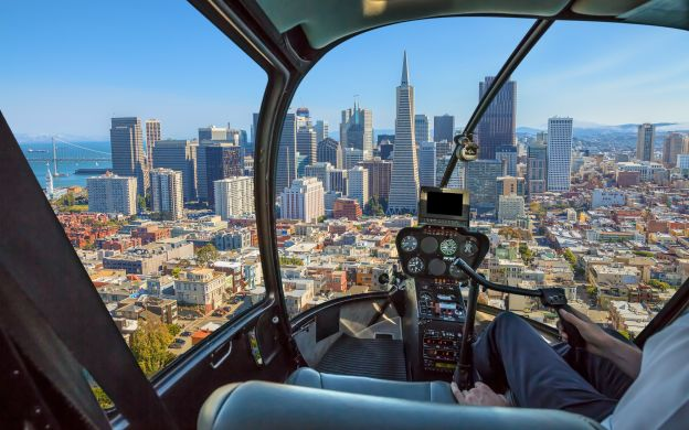 San Francisco Helicopter Ride and Sunset Dinner Cruise