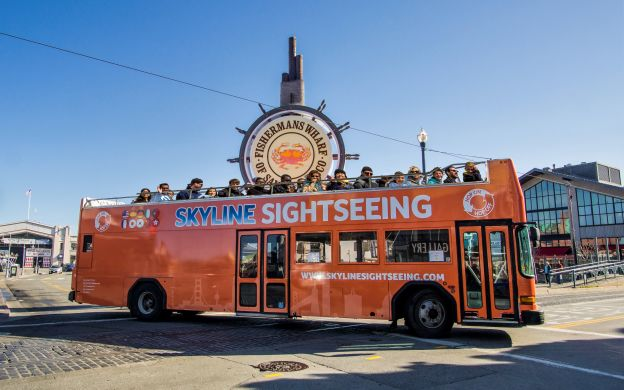 Skyline Sightseeing San Francisco: Hop-On, Hop-Off Bus & Bike Rental Combo