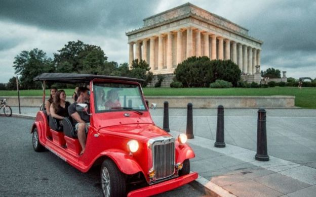 National Mall Night Tour in a Roadster, Washington DC