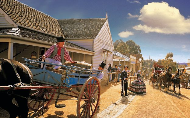 Sovereign Hill Gold Rush & Ballarat Wildlife Park with Return Hotel Transfers from Melbourne