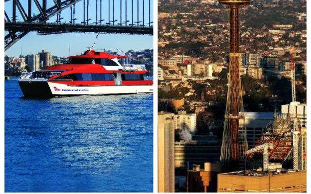 Captain Cook: Hop-On, Hop-Off Cruise and Sydney Tower Eye